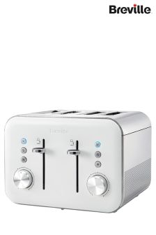Breville White Gloss 4 Slot Toaster