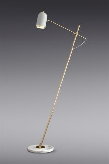 Marble And Brass Task Floor Lamp