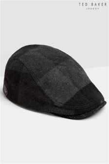 Ted Baker Speckled Check Flat Cap