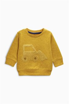 Digger Crew Top (3mths-6yrs)
