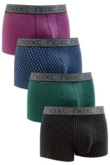 Colour Mix Print Hipsters Four Pack