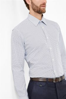 Ted Baker Blue Diamond Formal Shirt
