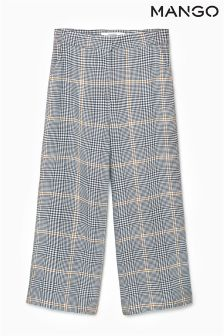 Mango Grey Check Trouser