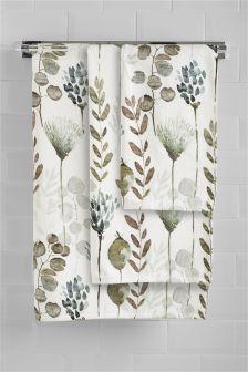 Printed Floral Towel