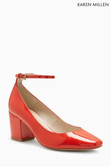 Karen Millen Orange Patent Mary Jane