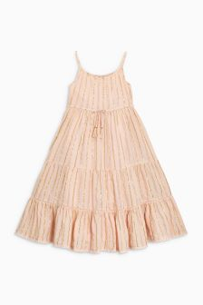 Metallic Stripe Maxi Dress (3-16yrs)