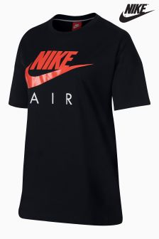 Nike Black/Red Crew Neck Top