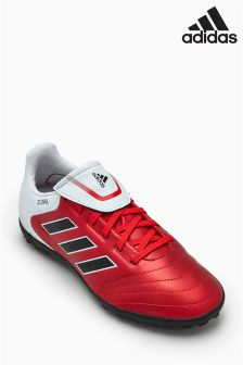 adidas Red/White Copa Turf Football Boot