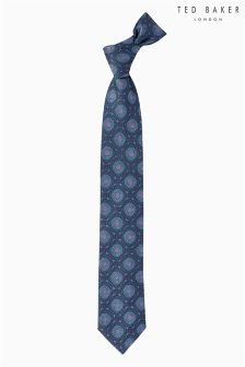 Ted Baker Navy Ormous Circles Tie