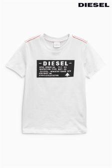 Diesel® White Logo Tee