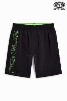Animal Belos Black Elasticated Board Short