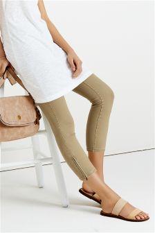 Denim Cropped Leggings