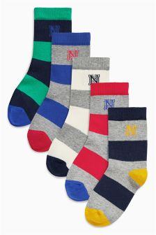 Rugby Stripe Socks Four Pack (Older Boys)