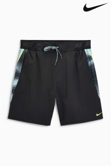 "Nike Black 7"" Splice Swim Short"
