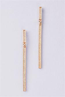 Glitter Bar Drop Earrings