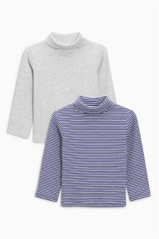 Roll Neck Tops Two Pack (3mths-6yrs)