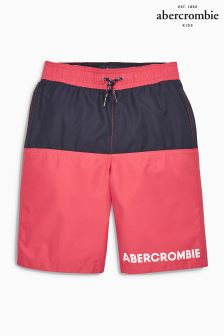 Abercrombie & Fitch Red Swim Short