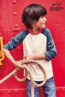 Boden Vanilla Pod/Atlantic Blue Raglan T-Shirt