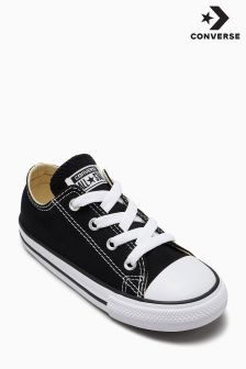 Converse Black Little Kids Chuck Taylor All Star Ox