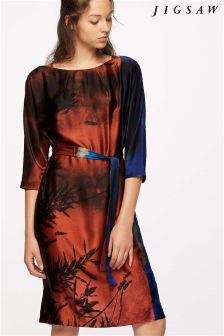 Jigsaw Winter Sunrise Silk Dress