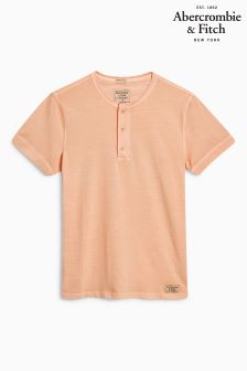 Abercrombie & Fitch Coral Henley Tee