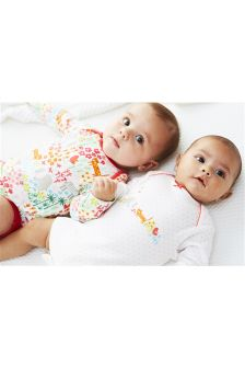 Animals Long Sleeve Bodysuits Two Pack (0mths-2yrs)