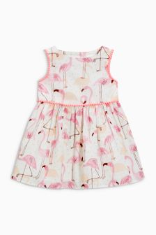 Flamingo Printed Dress (0mths-2yrs)
