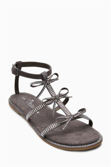 Embellished Jewel Bow Sandals (Older Girls)