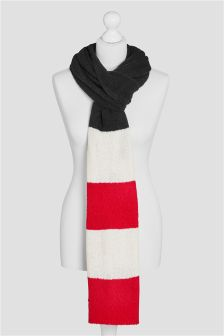 Striped Knitted Scarf