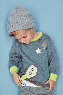 Crochet Rocket Crew Neck Jumper (3mths-6yrs)