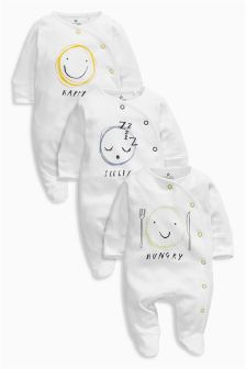 Emotion Sleepsuits Three Pack (0mths-2yrs)