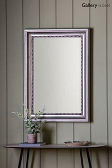 Pewter Beaded Mirror