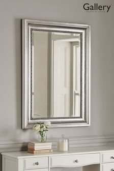Beaded Pewter Mirror
