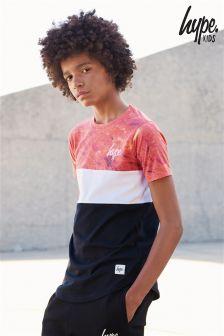 Hype Black/Orange Volcanic T-Shirt