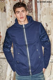 G-Star Navy Batt Hooded Overshirt