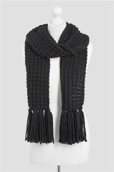 Popcorn Knitted Scarf