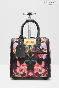 Ted Baker Black Floral Donnie Carry On Hand Luggage