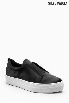 Steve Madden Satin Goals Slip On Sneaker