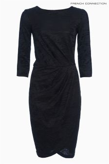 French Connection Black Jersey Dress