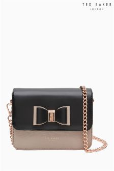 Ted Baker Black/Pink Bow Cross Body Clutch Bag