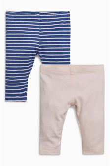 Stripe Leggings Two Pack (0mths-2yrs)