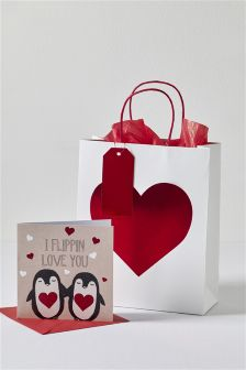 Flippin' Love You Card and Bag Set