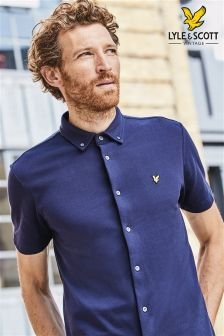 Lyle & Scott Navy Jersey Shirt