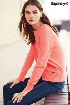 Superdry Coral Downtown Raglan Knit