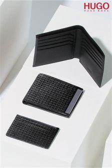 Hugo Textured Wallet Card Holder Gift Set