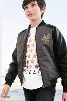 Eagle Embroidered Bomber Jacket (3-16yrs)