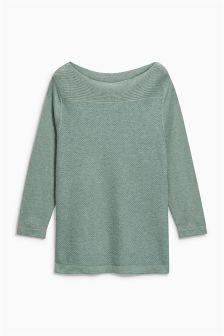 Textured Metallic Sweater