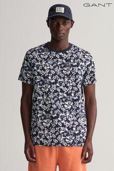 White Window Pane Short Sleeve Linen Blend Shirt