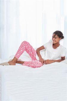 Heart Print Jersey Pyjamas