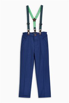 Formal Trousers With Detachable Braces (3mths-6yrs)